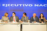 Maria Dolores de Cospedal, Mariano Rajoy, Fernando Martinez Maillo, Javier arenas and Andrea Levy during the meeting with the national executive committee of Partido Popular at Genova in Madrid. May 03, 2016. (ALTERPHOTOS/Borja B.Hojas)