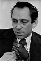 ARCHIVE -<br /> <br /> L'ex Ministre Libéral Jean Cournoyer en entrevue, le 21 Janvier 1977<br /> <br /> Photo : Agence Quebec Presse  - Alain Renaud