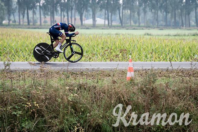 Kevin Vauquelin (FRA/Arkéa Samsic)<br /> <br /> World Championships U23 Men - ITT <br /> Time Trial from Knokke-Heist to Bruges (30.3km)<br /> <br /> UCI Road World Championships - Flanders Belgium 2021<br /> <br /> ©kramon