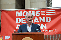 Massachusetts Senator Ed Markey speaking at a Moms Demand Action for Gun Sense in America recess rally to urge Congress to vote on Senate Bill 42 to implement background checks and red flag laws, and call for an assault weapons ban at Boston City Hall Plaza Boston MA 8.18.19