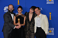 LOS ANGELES, USA. January 05, 2020: Brett Gelman, Sian Clifford, Phoebe Waller-Bridge & Andrew Scott in the press room at the 2020 Golden Globe Awards at the Beverly Hilton Hotel.<br /> Picture: Paul Smith/Featureflash