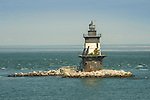 Orient Point Lighthouse. Plum Gut, Long Island Sound. Completed 1900. Spark plug type.