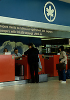 Montreal (Qc) CANADA - File photo taken between 1983 and 1989  - Air Canada Counter at Dorval (YUL) airport