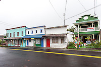 Old buildings in Pahoa Village, Big Island.