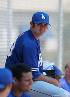 Los Angeles Dodgers minor leaguer Scott Van Slyke during Spring Training at Dodgertown on March 23, 2007 in Vero Beach, Florida.  (Mike Janes/Four Seam Images)