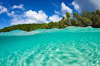 Split level image<br /> Caneel Bay<br /> Virgin Islands National Park <br /> St. John<br /> Virgin Islands
