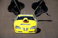 Oct. 16, 2011; Chandler, AZ, USA; NHRA pro stock driver Rodger Brogdon during the Arizona Nationals at Firebird International Raceway. Mandatory Credit: Mark J. Rebilas-