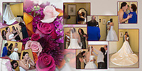 5th & 6th pages of one of the wedding albums we offer, designed, printed and bound by Ron Pradetto Photography.