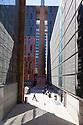 Spain - Barcelona - Students walking in the courtyard of the prestigious University Pompeu Fabra.