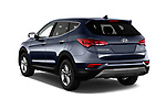 Car pictures of rear three quarter view of a 2018 Hyundai Santa Fe Sport Base 5 Door SUV angular rear