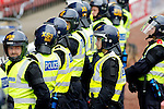 Pix: Shaun Flannery/shaunflanneryphotography.com...COPYRIGHT PICTURE>>SHAUN FLANNERY>01302-570814>>07778315553>>..7th May 2011........... South Yorkshire Police officers dressed in riot gear.