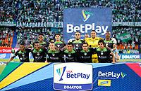 MEDELLÍN- COLOMBIA,  12-09-2021 .Jugadores de La Equidad  posan para una foto previo al partido por la fecha 9 entre Atlético Nacional  y La Equidad como parte de la Liga BetPlay DIMAYOR 2021 jugado en el estadio Atanasio Girardot de la ciudad de Medellín. / Players of  La Equidad pose to a photo prior Match for the date 9 between  Atletico Nacional and La Equidad as part of the BetPlay DIMAYOR League I 2021 played at Atanasio Girardot stadium in Medellin city. Photo: VizzorImage /Donaldo Zuluaga / Contribuidor
