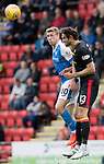 St Johnstone v Partick Thistle…19.08.17… McDiarmid Park… SPFL<br />Adam Barton clears from David Wotherspoon<br />Picture by Graeme Hart.<br />Copyright Perthshire Picture Agency<br />Tel: 01738 623350  Mobile: 07990 594431