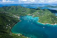 Aerial view of Coral Bay<br /> St. John<br /> US Virgin Islands