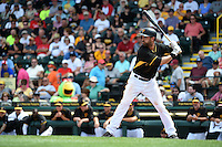 Pittsburgh Pirates outfielder Andrew Lambo (15) during a Spring Training game against the Minnesota Twins on March 13, 2015 at McKechnie Field in Bradenton, Florida.  Minnesota defeated Pittsburgh 8-3.  (Mike Janes/Four Seam Images)
