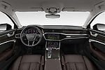Stock photo of straight dashboard view of a 2020 Audi A6 allroad quattro Base 5 Door Wagon