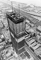 1966 FILE PHOTO - ARCHIVES -<br /> <br /> <br /> Construction Toronto Dominion Centre<br /> <br /> PHOTO : Boris Spremo - Toronto Star Archives - AQP