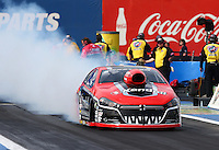 Feb 20, 2015; Chandler, AZ, USA; NHRA pro stock driver V. Gaines during qualifying for the Carquest Nationals at Wild Horse Pass Motorsports Park. Mandatory Credit: Mark J. Rebilas-
