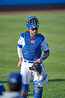 Tim Susnara (6) of the Ogden Raptors before the game against the Grand Junction Rockies at Lindquist Field on June 5, 2021 in Ogden, Utah. The Raptors defeated the Rockies 18-1. (Stephen Smith/Four Seam Images)