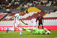 GUADALAJARA, MEXICO - MARCH 24: Djordje Mihailovic #8 of the United States is denied by Sebastian Jurado #12 of Mexico during a game between Mexico and USMNT U-23 at Estadio Jalisco on March 24, 2021 in Guadalajara, Mexico.