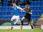 St Johnstone v Partick Thistle…08.08.17… McDiarmid Park.. Betfred Cup<br />Michael O'Halloran and Christie Elliott<br />Picture by Graeme Hart.<br />Copyright Perthshire Picture Agency<br />Tel: 01738 623350  Mobile: 07990 594431