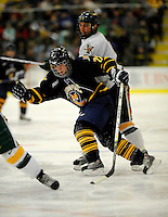30 December 2007: Quinnipiac University Bobcats' forward David Marshall, a Junior from Buffalo, MN, in action against the University of Vermont Catamounts at Gutterson Fieldhouse in Burlington, Vermont. The Bobcats defeated the Catamounts 4-1 to win the Sheraton/TD Banknorth Catamount Cup Tournament...Mandatory Photo Credit: Ed Wolfstein Photo