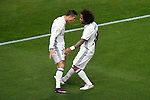 Real Madrid's Cristiano Ronaldo (l) and Marcelo Vieira celebrate goal during La Liga match. November 19,2016. (ALTERPHOTOS/Acero)