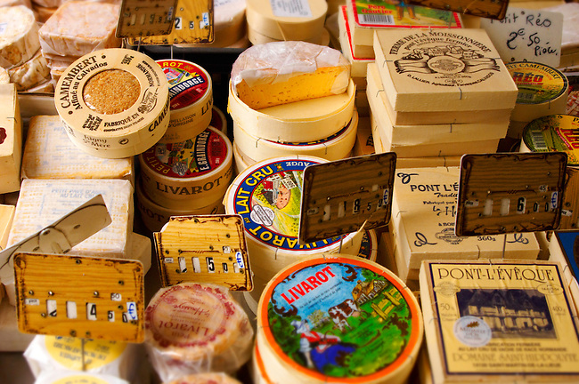 Cheese Stall Honfleur market France