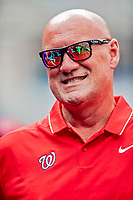 20 May 2018: Washington Nationals Director of Athletic Training Paul Lessard in the dugout prior to a game against the Los Angeles Dodgers at Nationals Park in Washington, DC. The Dodgers defeated the Nationals 7-2, sweeping their 3-game series. Mandatory Credit: Ed Wolfstein Photo *** RAW (NEF) Image File Available ***