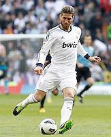 Real Madrid's Sergio Ramos during La Liga match.March 02,2013. (ALTERPHOTOS/Acero) /NortePhoto
