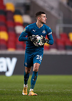 22nd December 2020; Brentford Community Stadium, London, England; English Football League Cup Football, Carabao Cup, Brentford FC versus Newcastle United; Goalkeeper Karl Darlow of Newcastle United