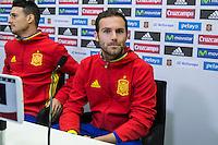 Spainsh Juan Mata during the press conference in the city of football of Las Rozas in Madrid, Spain. November 10, 2016. (ALTERPHOTOS/Rodrigo Jimenez) ///NORTEPHOTO.COM