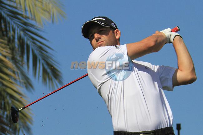 Sergio garcia (ESP) in action during the third round  of the Omega Dubai Desert Classic 2011 on the Majlis Course, Emirates Golf Club, Dubai, UAE. 12/02/2011.Picture Fran Caffrey/www.golffile.ie.