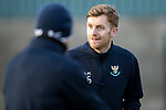 St Johnstone Training….25.01.19          McDiarmid Park<br />Liam Craig pictured during training this morning after signing a contract extension keeping him at saints.<br />Picture by Graeme Hart.<br />Copyright Perthshire Picture Agency<br />Tel: 01738 623350  Mobile: 07990 594431