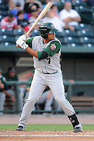 Fort Wayne TinCaps second baseman Diego Goris (7) during a game against the Great Lakes Loons on August 19, 2013 at Dow Diamond in Midland, Michigan.  Great Lakes defeated Fort Wayne 12-5.  (Mike Janes/Four Seam Images)