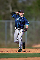 Villanova Wildcats shortstop Eric Lowe (22) during a game against the Dartmouth Big Green on February 27, 2016 at South Charlotte Regional Park in Punta Gorda, Florida.  Villanova defeated Dartmouth 14-1.  (Mike Janes/Four Seam Images)
