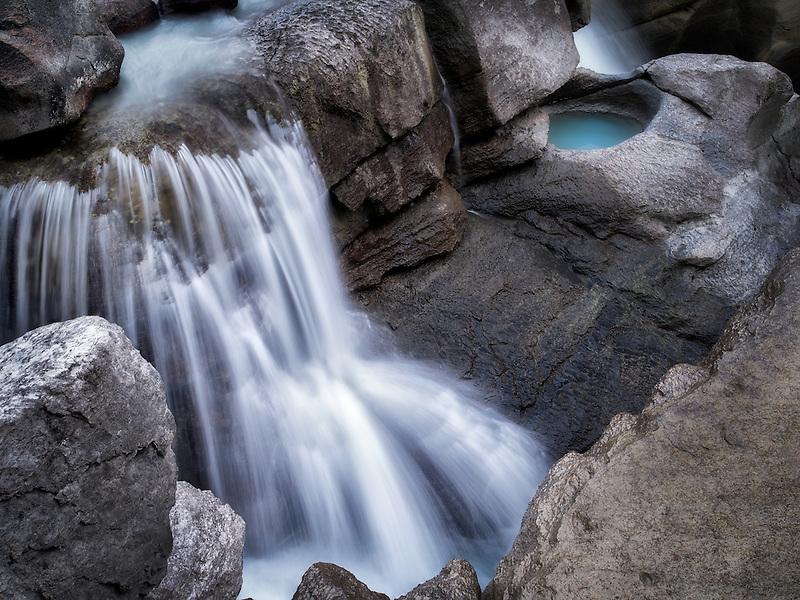Lower Sunwapta Falls. Jasper National Park, Alberta, Canada