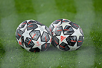 Adidas official balls are seen through the goal net during the Champions League round of 16 football match between SS Lazio and Bayern Munchen at stadio Olimpico in Rome (Italy), February, 23th, 2021. Photo Andrea Staccioli / Insidefoto