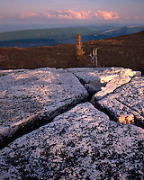 Sunset glow on lichen-covered boulders in the Dolly Sods Recreation Area; Monogahela National Forest, WV