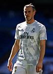 Real Madrid CF's Gareth Bale warms up before during the Spanish La Liga match round 8 between Real Madrid and Granada CF at Santiago Bernabeu Stadium in Madrid, Spain
