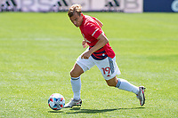 SAN JOSE, CA - APRIL 24: Paxton Pomykal #19 of FC Dallas looks to pass the ball during a game between FC Dallas and San Jose Earthquakes at PayPal Park on April 24, 2021 in San Jose, California.