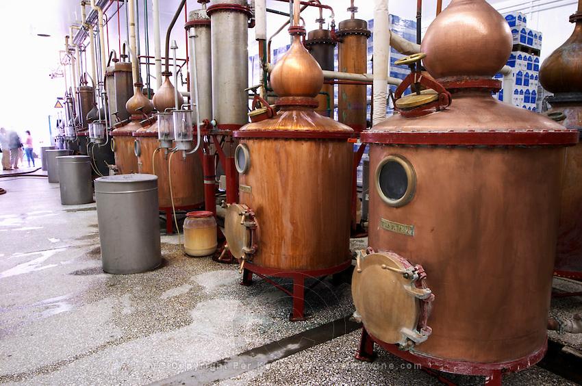 Still for distilling Ouzo. Tsantali Vineyards & Winery, Halkidiki, Macedonia, Greece.