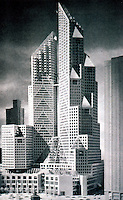 Moshe Safdie: Columbus Center, Model, Original design. (By early 1988, this project was stalled.)