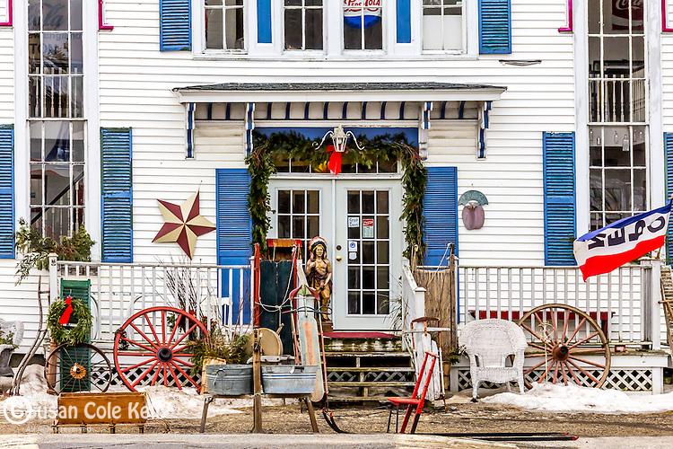 Antique shop in Mechanic Falls, Maine, USA