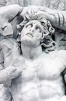 Greek Art: Detail of Giant Alkyoneus, part of relief on East frieze of Altar of Pergamon.