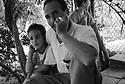 Turkey 1998.In a shantytown where Kurds are living, near Istanbul airport: Nevzat with his daughter Kurdistan.Turquie 1998.Dans un bidonville pres de l'aeroport d'Istamboul ou vivent les Kurdes chasses de leurs villages : Nevzat avec sa fille Kurdistan