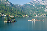 Our Lady of Rocks church & St Georges Island on the bay of Kotor, Montenegro