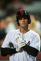 Scottsdale Scorpions Greg Bird (33), of the New York Yankees organization, during a game against the Glendale Desert Dogs on October 14, 2016 at Scottsdale Stadium in Scottsdale, Arizona.  Scottsdale defeated Glendale 8-7.  (Mike Janes/Four Seam Images)