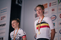 Nathalie Bex (BEL/Experza-Footlogix) is the new women's U23 Belgian champion<br /> <br /> Belgian National Championships 2018 (road) in Binche (224km)<br /> ©kramon