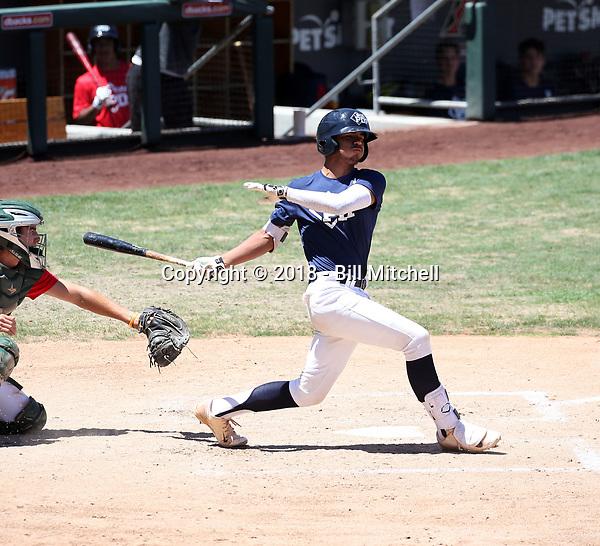 Kiko Roimero plays in the MLB / USA Baseball Prospect Development Pipeline game at Salt River Fields on May 30, 2018 in Scottsdale, Arizona (Bill Mitchell)